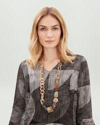 Jaeger - Long Multi Link And Bead Resin Necklace - Lyst