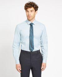Jaeger - Regular Mouline Twill Shirt - Lyst