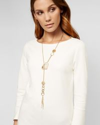 Jaeger - Gabrielle Pretty Stone Long Necklace - Lyst