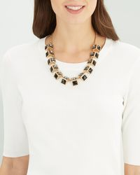 Jaeger - Statement Crystal Short Necklace - Lyst