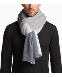 James Perse - Colour Blocked Rib Scarf - Lyst