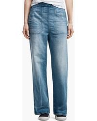 James Perse - High Waisted Denim Pant - Lyst