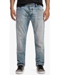 James Perse - Relaxed Fit Distressed Denim Jeans - Lyst
