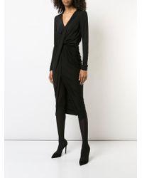 Jason Wu - Fluid Jersey V Neck Long Sleeve Twisted Drape Dress - Lyst