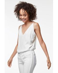 J Brand - Lucy Silk Cami In White - Lyst
