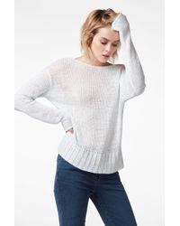 J Brand - Seascape Scoopback Sweater In Nero - Lyst