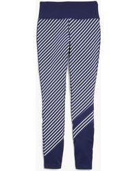 J.Crew - New Balance High Waisted Performance Leggings In Diagonal Stripe - Lyst
