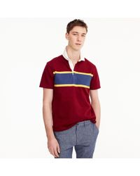 J.Crew - Short-sleeve 1984 Rugby Shirt In Red - Lyst