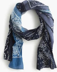 J.Crew - Lightweight Cotton Patchwork Scarf - Lyst