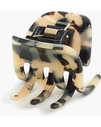 J.Crew - Classic Hair Clip In Italian Tortoise - Lyst