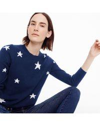 J.Crew - Everyday Cashmere Sweater In Kaleidoscope Star Print - Lyst