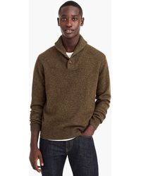 J.Crew - Rugged Merino Wool Shawl-collar Pullover Jumper - Lyst