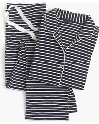 J.Crew - Dreamy Cotton Pajama Set In Stripe - Lyst