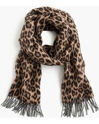 J.Crew - Italian Wool-blend Scarf In Leopard - Lyst