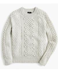 J.Crew - Popcorn Cable-knit Jumper - Lyst