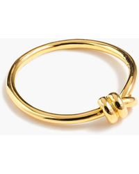 J.Crew - Demi-fine 14k Gold-plated Knot Ring - Lyst