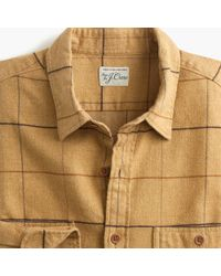 J.Crew - Slim Midweight Herringbone Flannel Shirt In Tattersall - Lyst