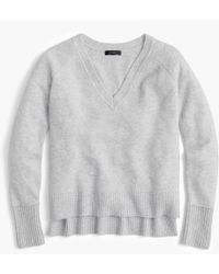 J.Crew - V-neck Sweater In Yarn - Lyst
