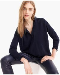 J.Crew - Everyday Cashmere Pullover Hoodie Jumper - Lyst