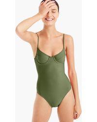 J.Crew - Women's 1993 Underwire One-piece Swimsuit - Lyst