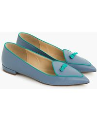 J.Crew - Two-tone Pointed-toe Loafers - Lyst