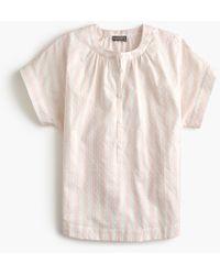 c935dc150ee J.Crew - Point Sur Short-sleeve Popover Shirt In Cotton Dobby Stripe -