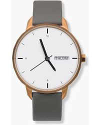 J.Crew - Tinker 42mm Copper-toned Watch With Grey Strap - Lyst
