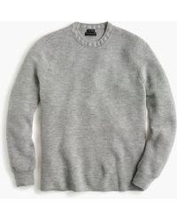 J.Crew - Destination Merino Wool Waffle-knit Crewneck Jumper - Lyst