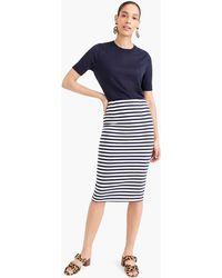 54f5f3313 J.Crew Asymmetrical Zip Pencil Skirt in Wool in Black - Lyst