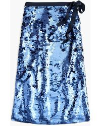 J.Crew - Sequin Midi Skirt With Tie - Lyst