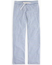 J.Crew - Dreamy Cotton Pant In Stripe - Lyst