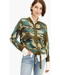 J.Crew - Knit Bomber Sweater In Camo - Lyst