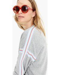 J.Crew - Supersoft Fleece Sweatshirt With Racing Stripes - Lyst