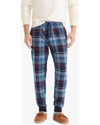 J.Crew - Jersey Pyjama Pant In Alexander Plaid - Lyst