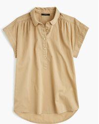 J.Crew - Petite Collared Popover In Garment-dyed Cotton Poplin - Lyst