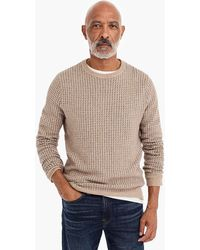 J.Crew - Rugged Merino Wool Bird's-eye Crewneck Sweater - Lyst