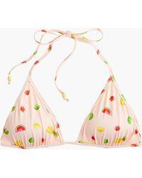 J.Crew - Playa Printed Miami String Bikini Top - Lyst
