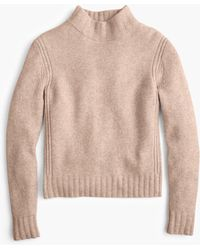 J.Crew - Mockneck Sweater In Supersoft Yarn - Lyst