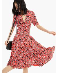 J.Crew - A-line Midi Shirtdress In Heart Print With Removable Belt - Lyst