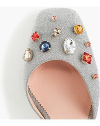 J.Crew - Harlow Ankle-strap Court Shoes In Embellished Glitter - Lyst