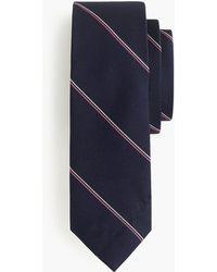 J.Crew - Cotton Tie In Rustic Purple Stripe - Lyst