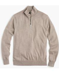 J.Crew - Italian Merino Wool Half-zip Jumper - Lyst