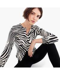J.Crew - Cotton Jackie Cardigan Sweater In Zebra - Lyst
