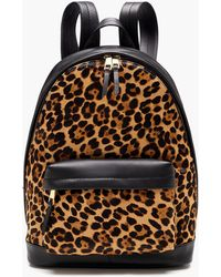 J.Crew - The Harper Backpack In Italian Leather And Calfhair - Lyst