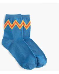 J.Crew - Boot Socks In Zigzag Stripes - Lyst