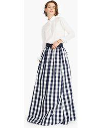 J.Crew - Taffeta Belted Ball Skirt In Oversized Gingham - Lyst