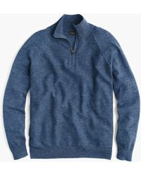 J.Crew - Rugged Cotton Half-zip Jumper - Lyst