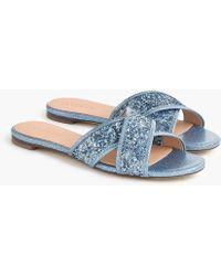 J.Crew - Glitter Cora Crisscross Sandals - Lyst