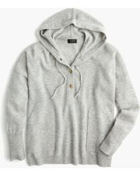 J.Crew - Everyday Cashmere Pullover Hoodie Sweater - Lyst