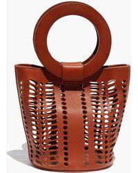 Modern Weaving - Mini Jute Circle Handle Bucket Bag In Black - Lyst